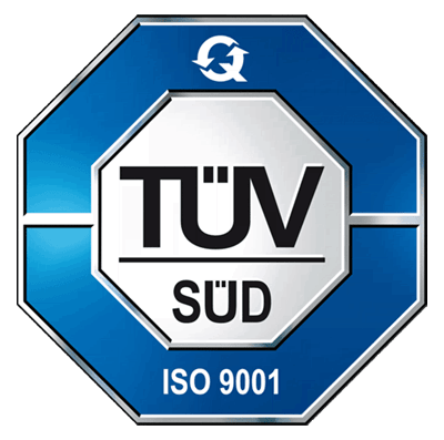 TUV ISO 9001:2015 Certified